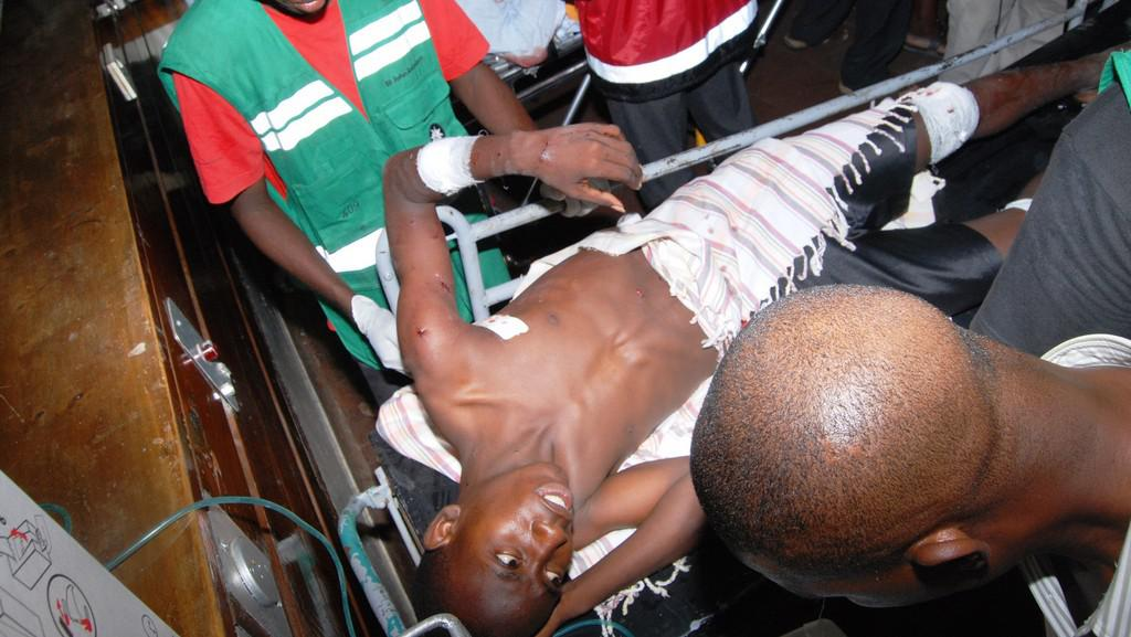 Zraněný po útoku v Keni