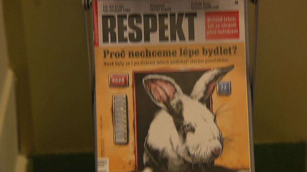 Oceněná obálka týdeníku Respekt
