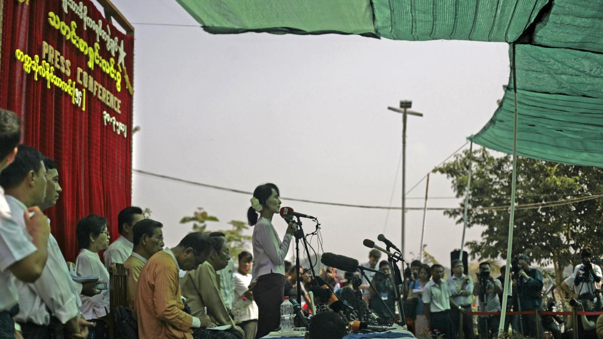 Su Ťij během předvolební kampaně
