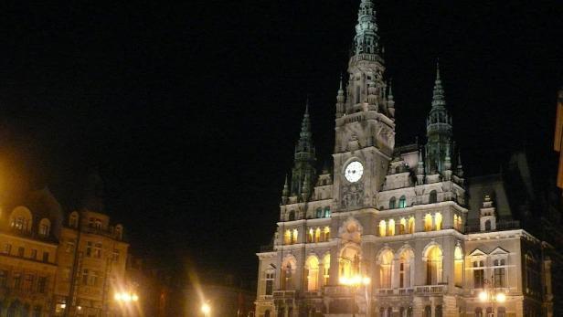 Liberec v noci