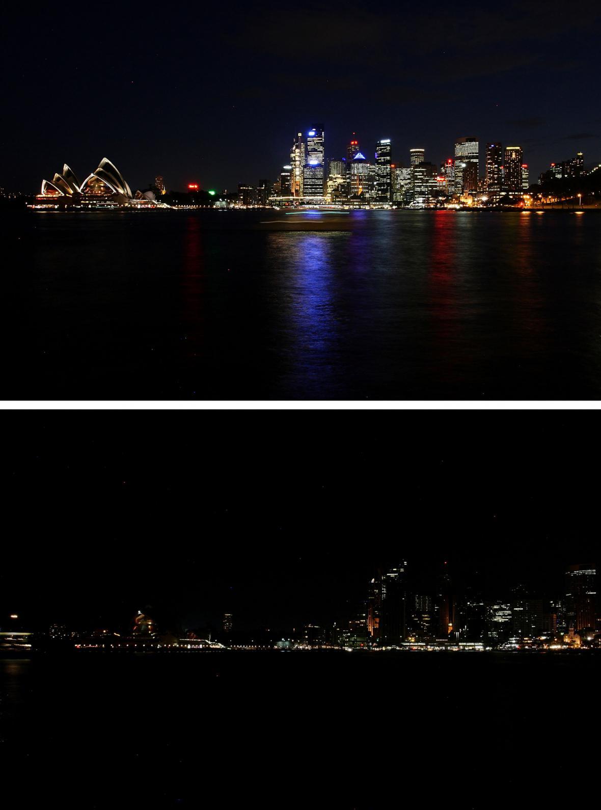 Sydney se zapojilo do projektu Hodina Země