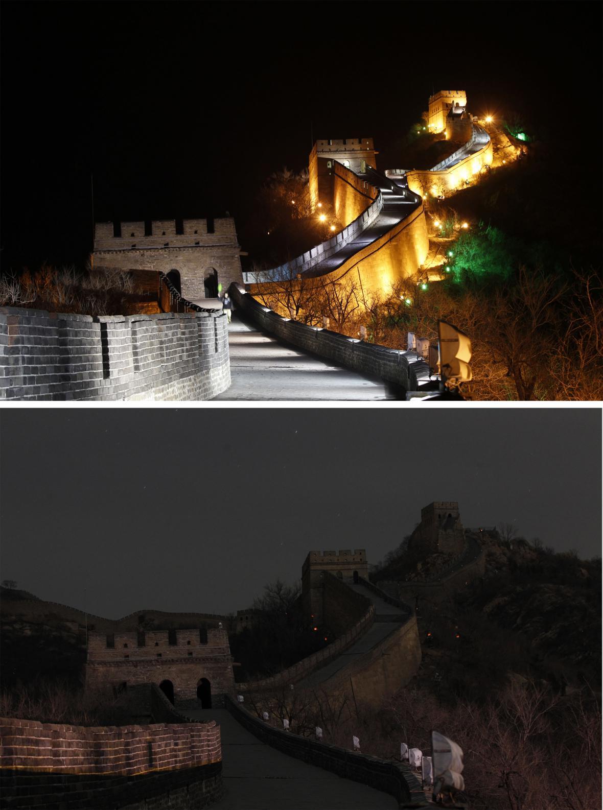 Hodina Země - čínská zeď