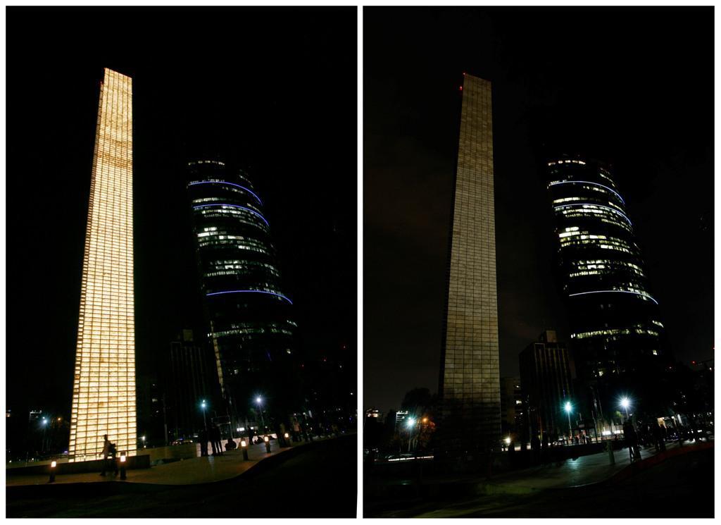 Pilíř světla v Mexico City