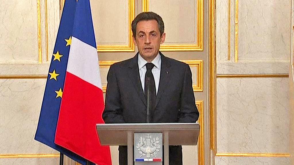 Projev Nicolase Sarkozyho k zásahu v Toulouse