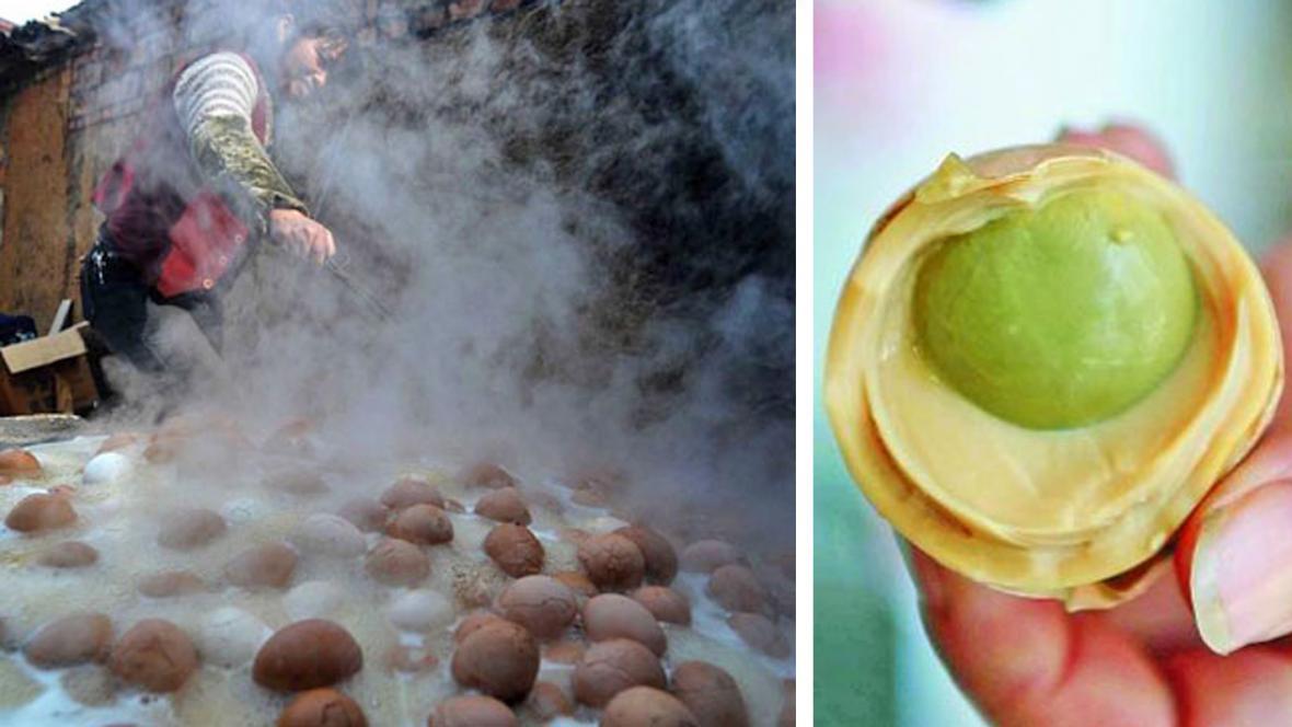 Speciální vejce z čínského Tung-Jangu