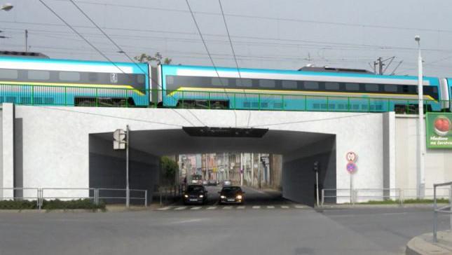 Vizualizace mostu přes Prokopovu ulici
