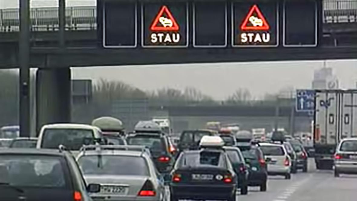 Zácpy na německých dálnicích
