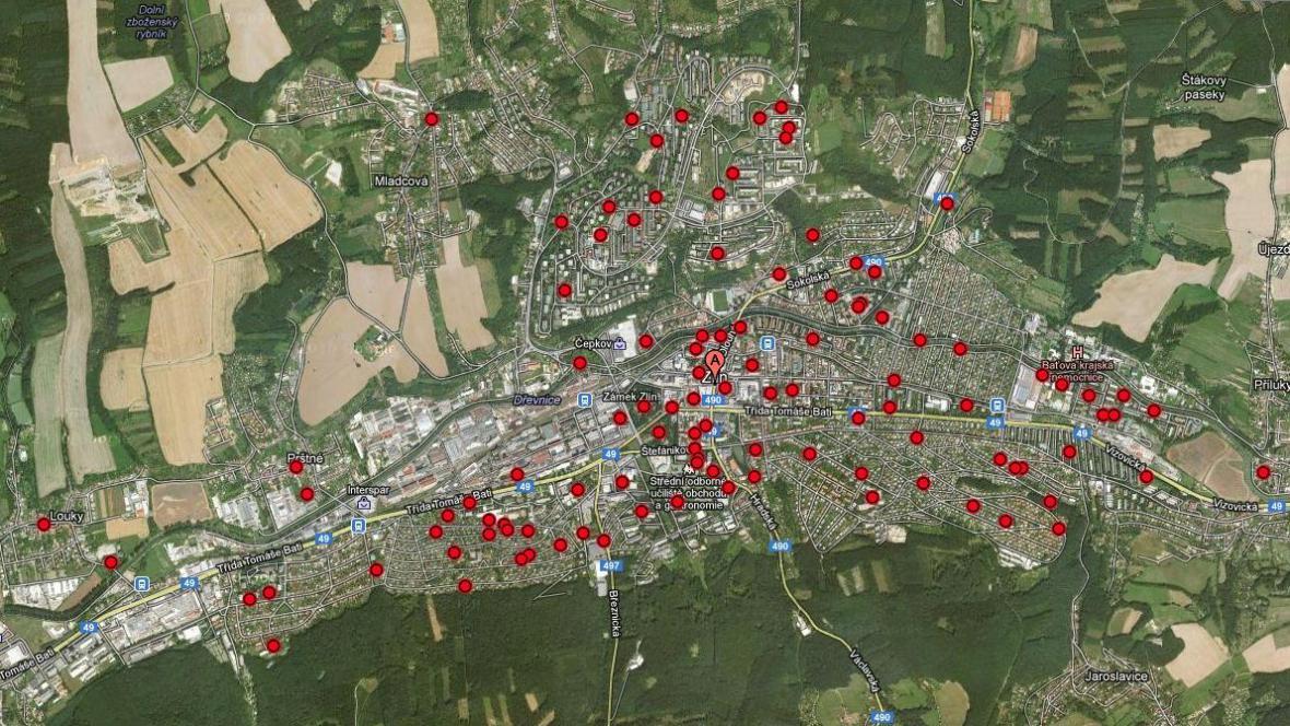 V celém Zlíně je zatím zmapováno asi 8 tisíc stromů
