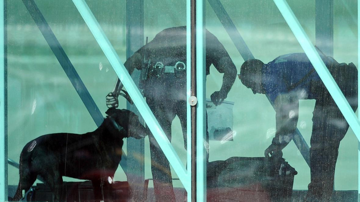 Zavazadla prohledávali cvičení psi
