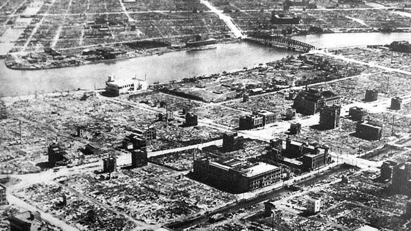 Následky bombardování