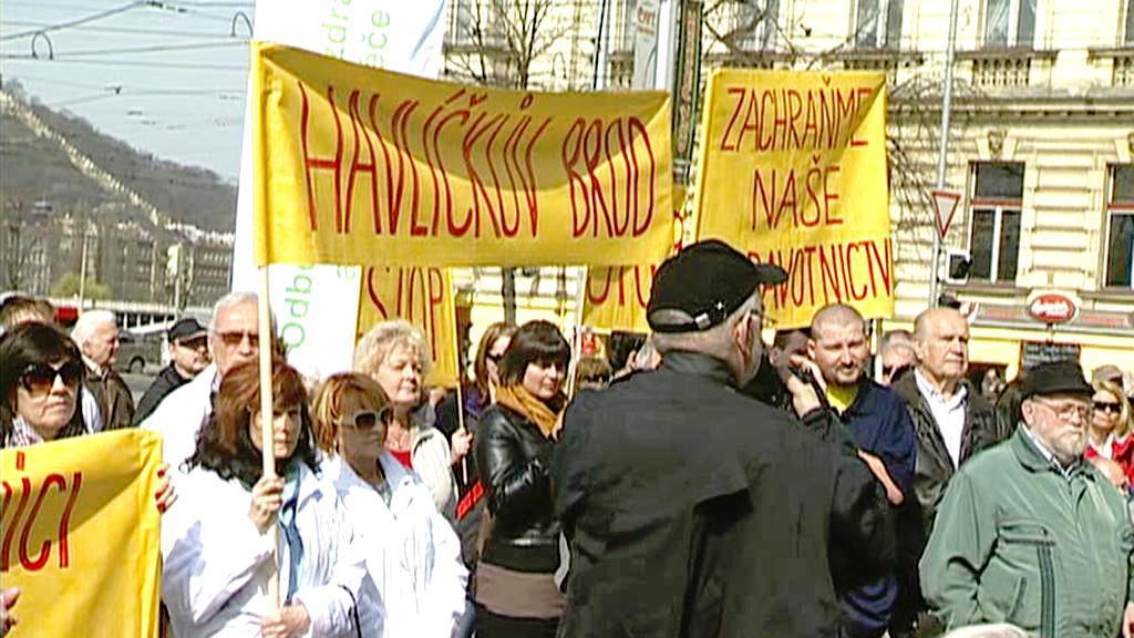 Demonstrace proti dojezdovým dobám