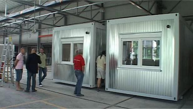 Kontejnerové bydlení pro neplatiče nájemného z Holešova