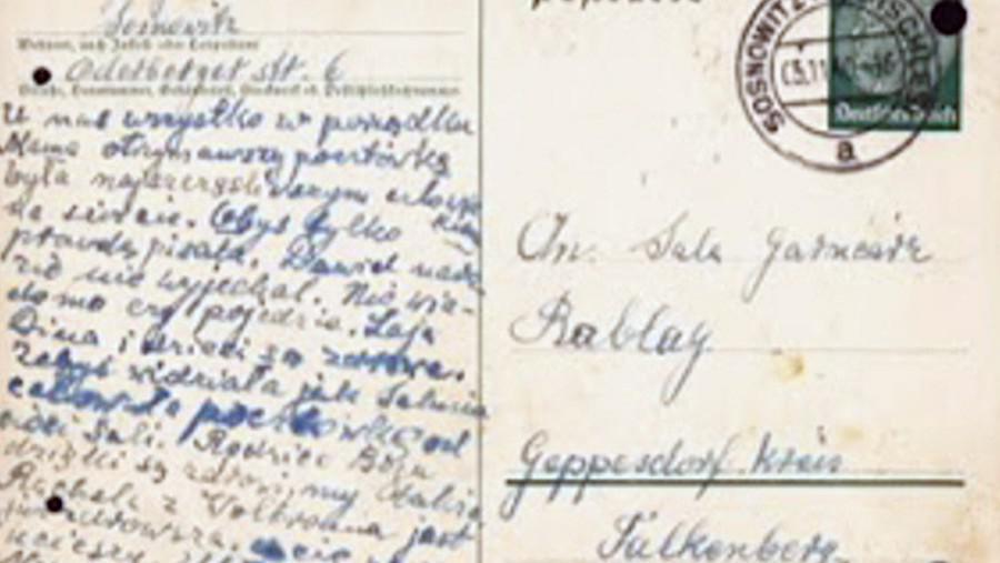 Jeden z dopisů Saly se svou rodinou