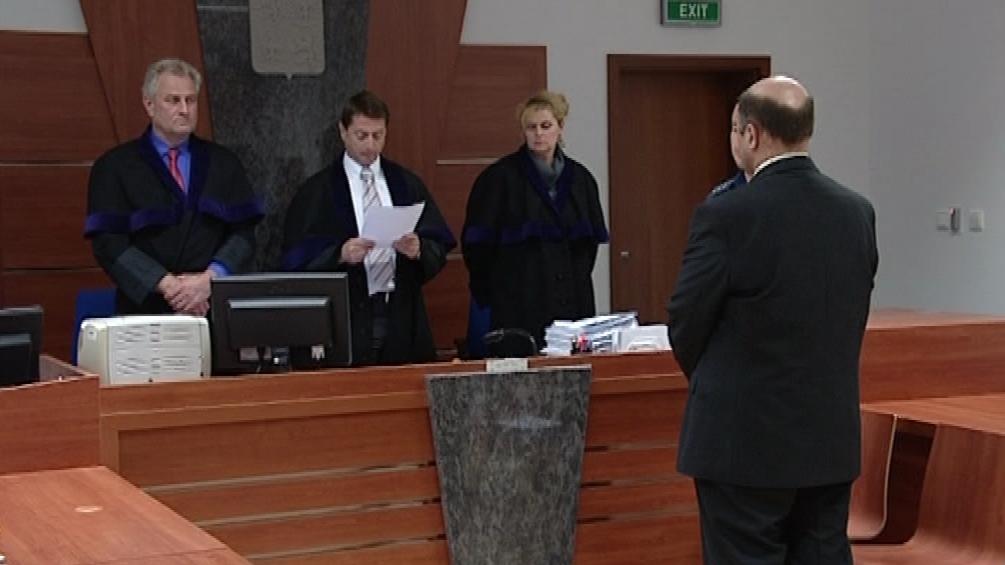 Starosta Hajan Jaroslav Kokrhánek při vyhlášení rozsudku