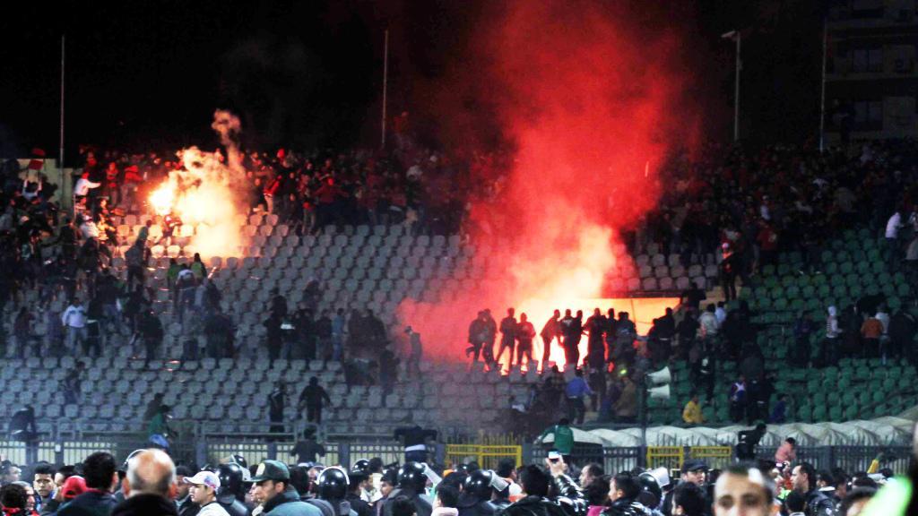 Ochozy na stadionu v Port Saíd