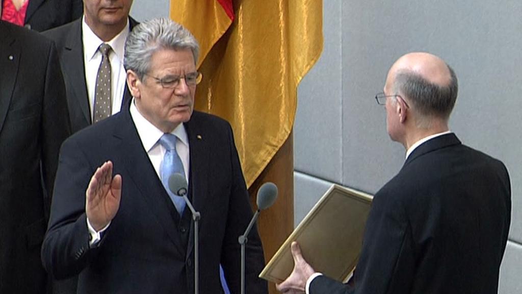 Joachim Gauck skládá přísahu