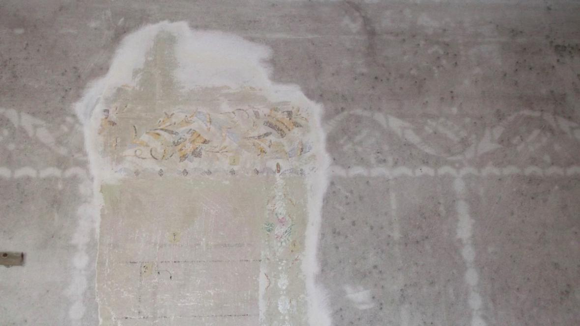 Původní výmalba fary v Bohdalicích bude obnovena
