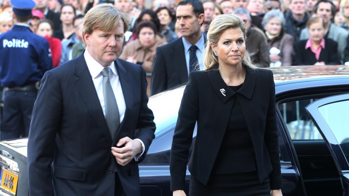 Nizozemský princ Vilém Alexandr a princezna Maxima