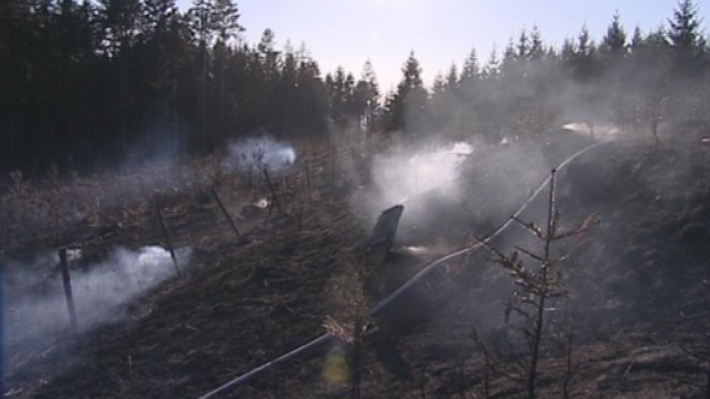 Rozsáhlý požár v Kašavě