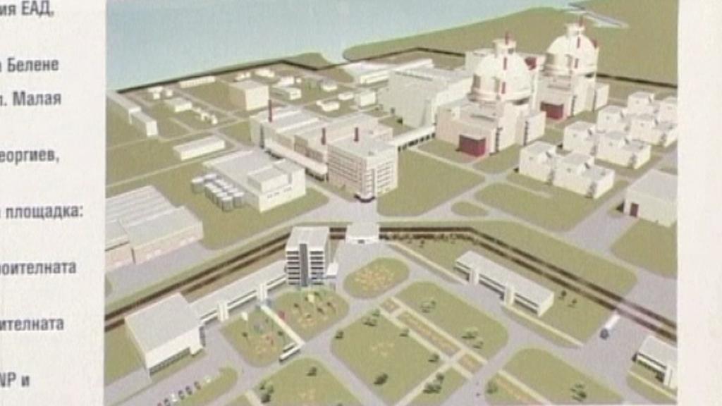 Vizualizace nové jaderné elektrárny v bulharském Belene