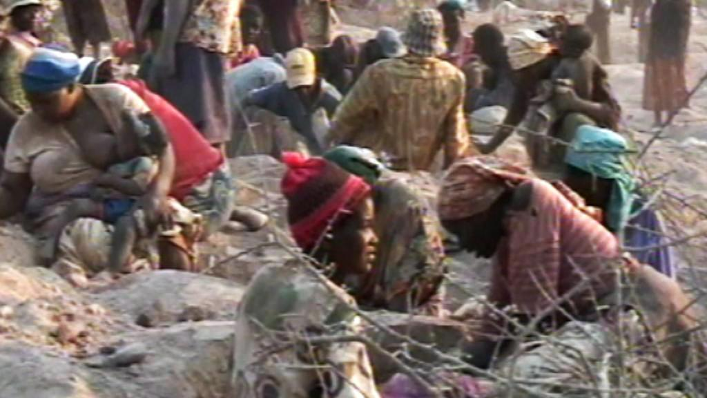 Těžba diamantů v Zimbabwe