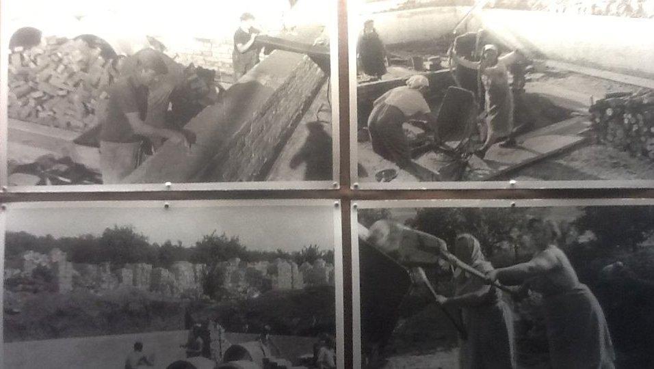 Dobové fotky ze stavby žďánické hvězdárny