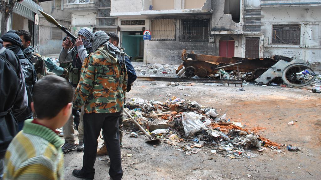 Sýrie - nepokoje v Homsu
