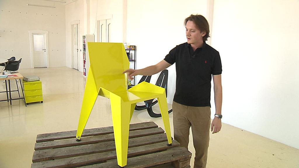 Petr Novaque s výtězným výrobkem
