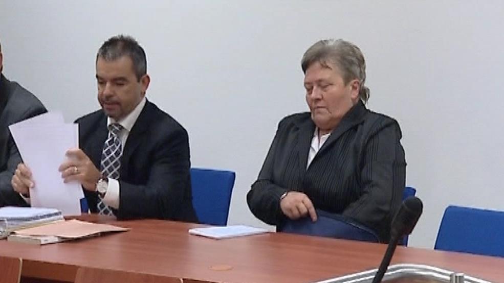 Dagmar Hrubá u soudu