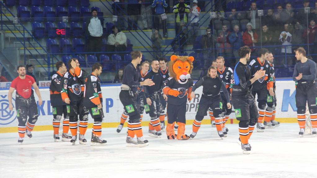Radost hokejistů HC Lev