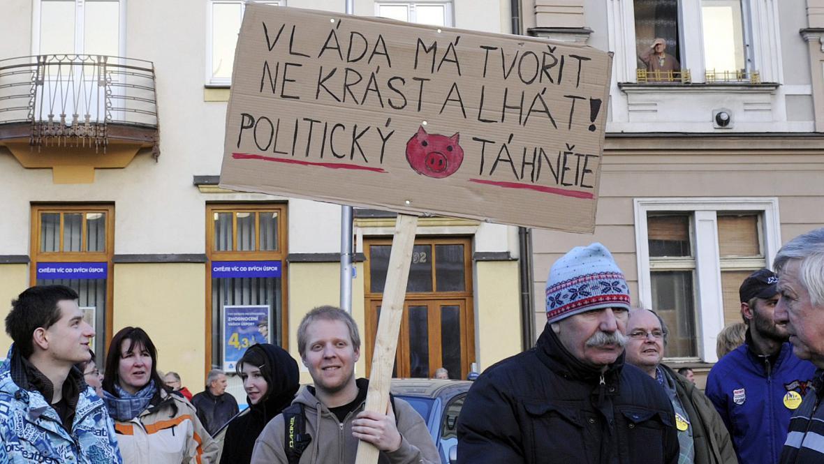 Protest v Hradci Králové