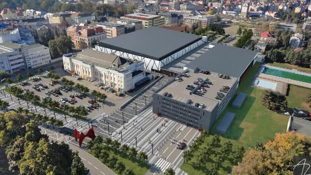 Projekt nové městské haly v Olomouci