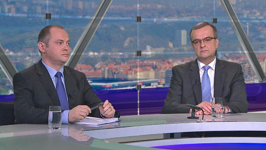 Miroslav Kalousek a Michal Hašek v OVM