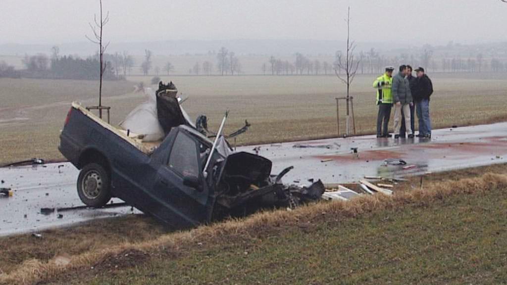 Zničený pickup