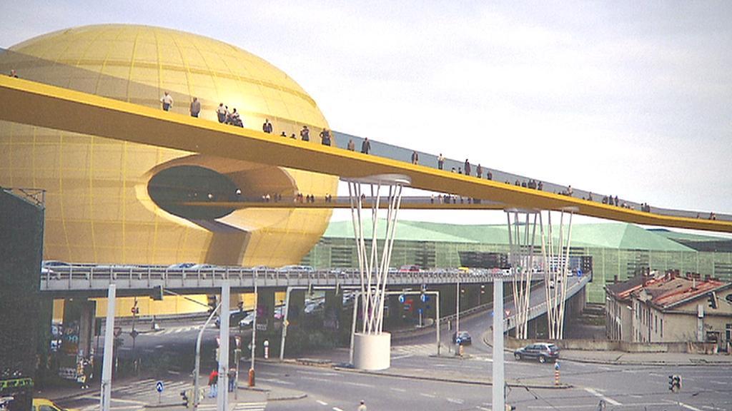Návrh zástavby okolí Masarykova nádraží