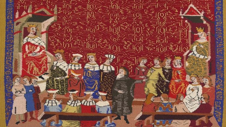 Gobelín podle fragmentu Dalimilovy kroniky