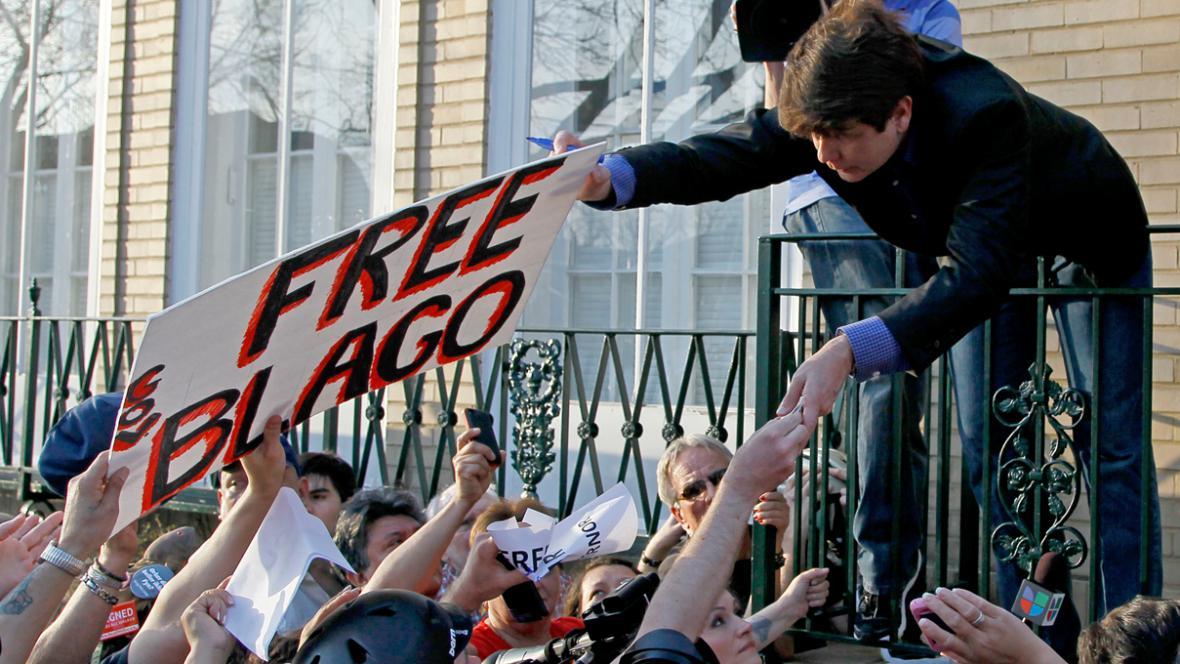 Rod Blagojevich se před nástupem do vězení setkal se svými stoupenci