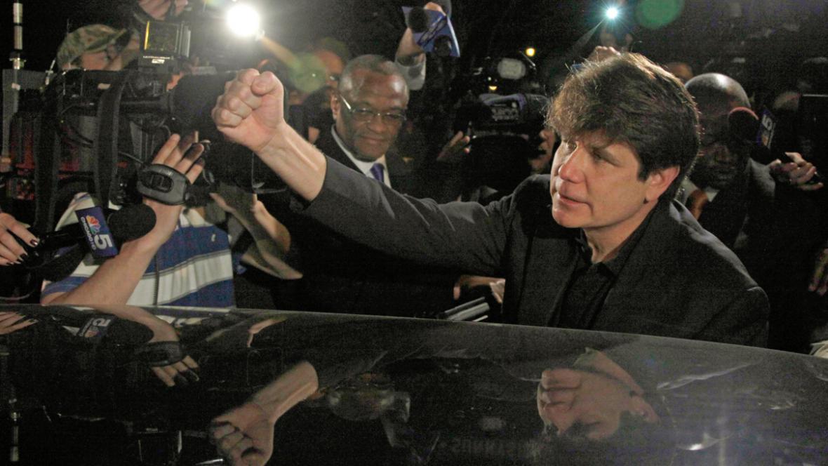 Rod Blagojevich odjíždí do vězení
