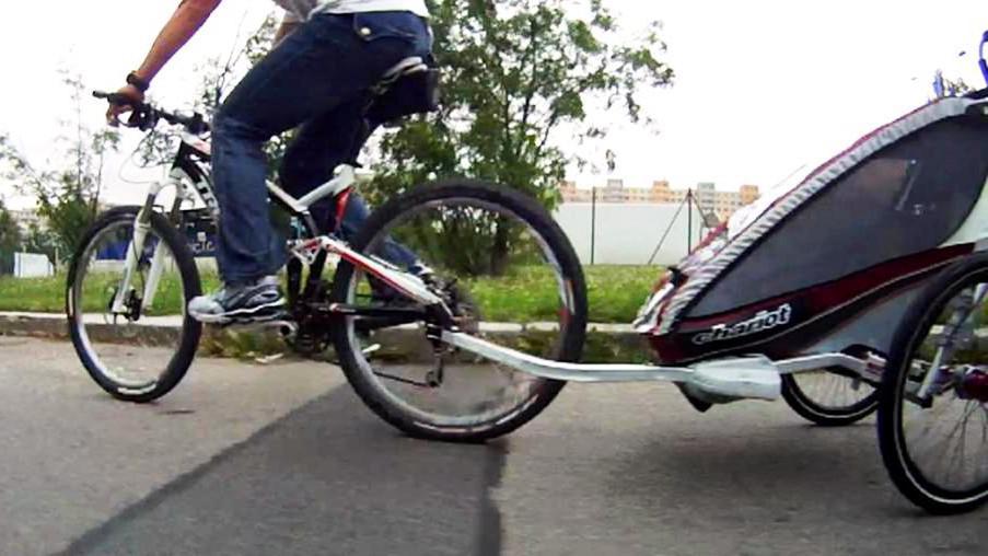 Vozík za kolo pro děti