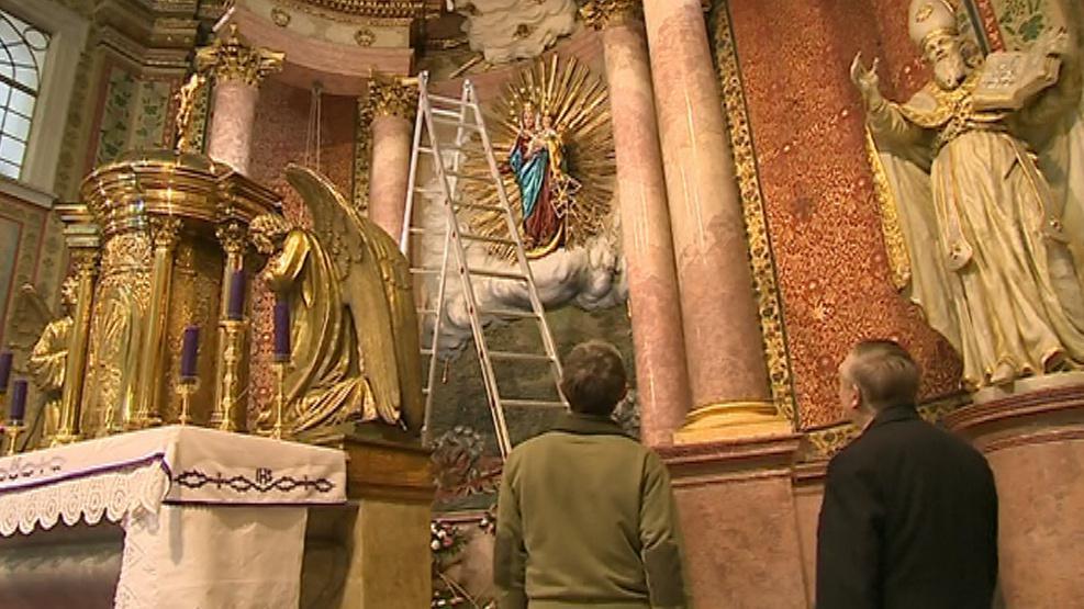 Přípravy baziliky na slavné jubileum