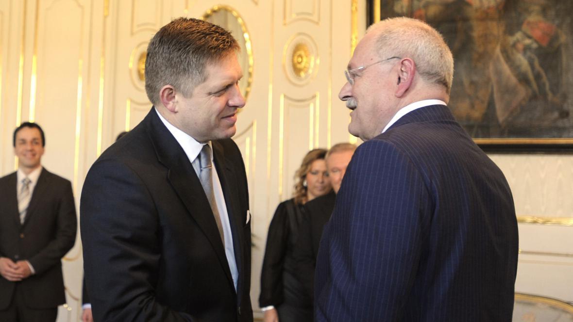 Robert Fico a Ivan Gašparovič