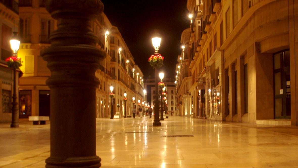 Centrum Málagy v noci