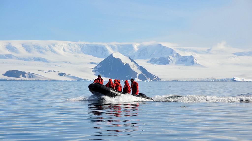 Členové expedice na Antarktidě