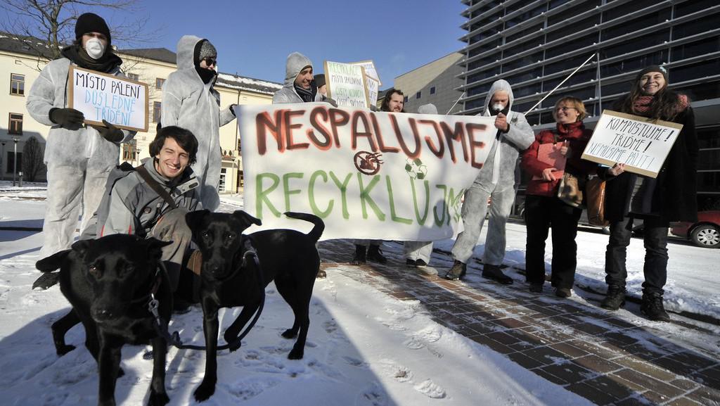 Protest proti stavbě spalovny v Jihlavě