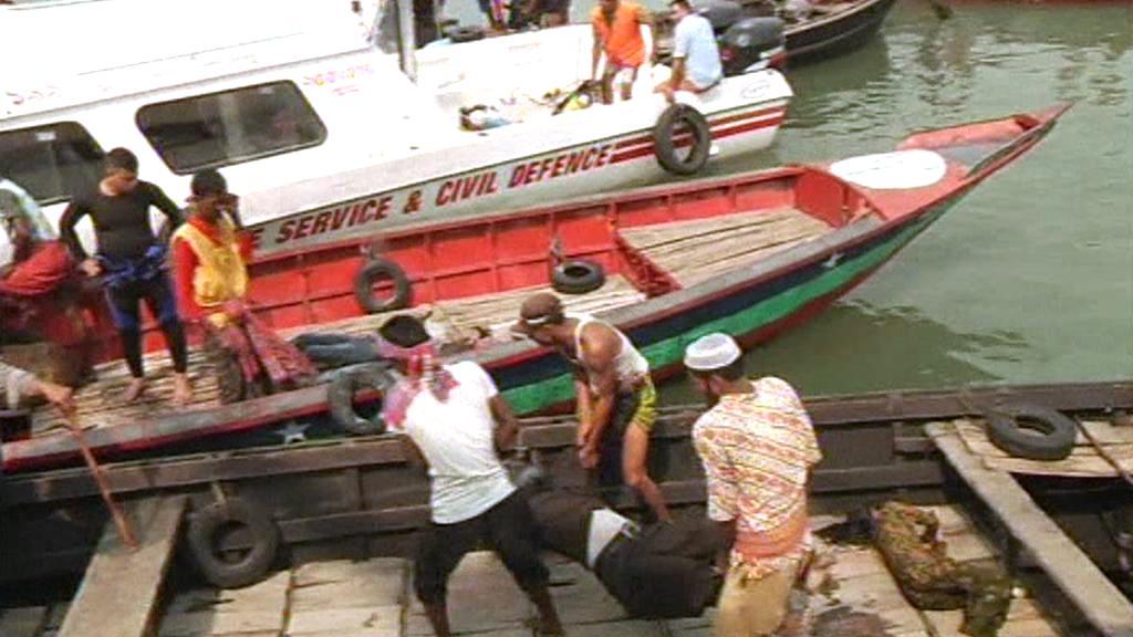Oběť havárie trajektu v Bangladéši