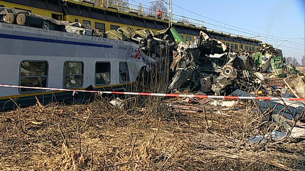 Nehoda na železnici v Polsku