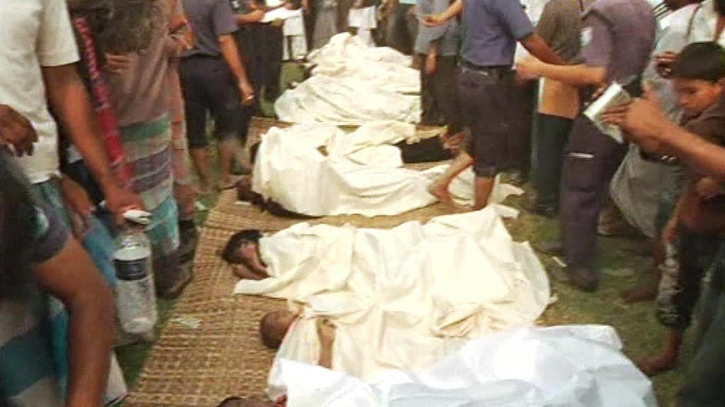 Oběti lodního neštěstí v Bangladéši