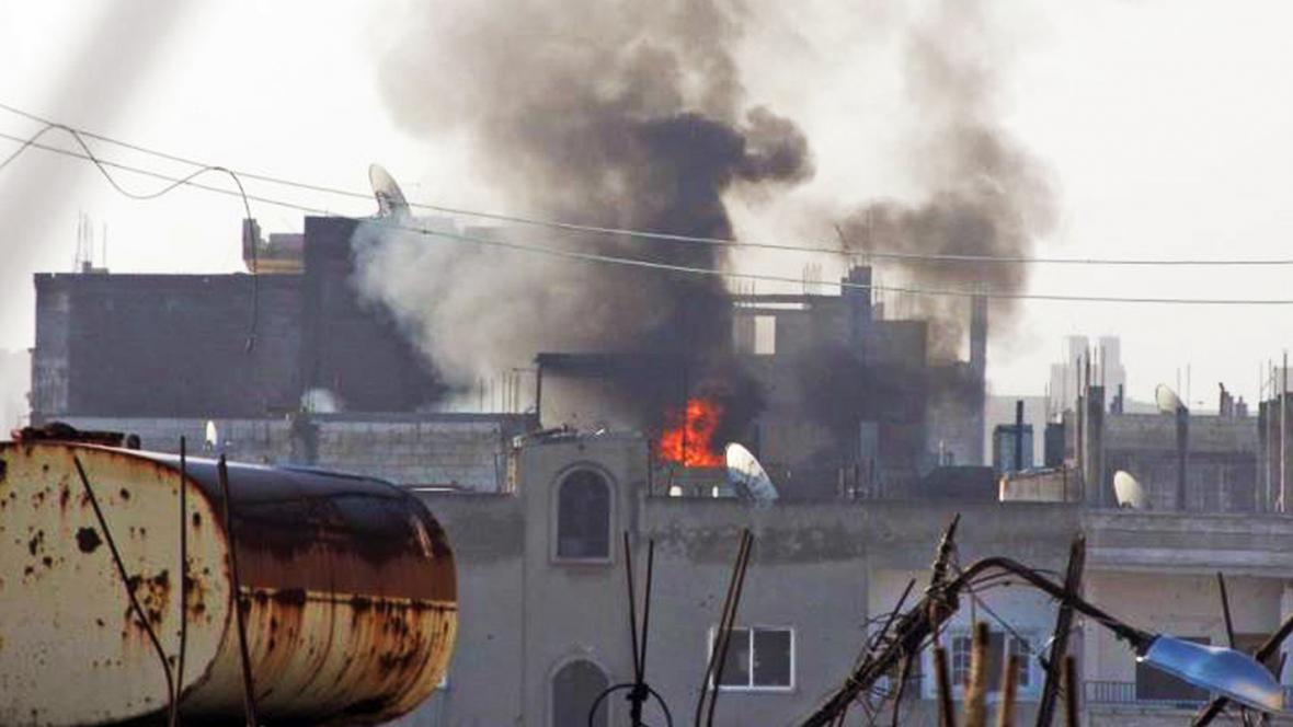 Násilnosti v syrském Homsu