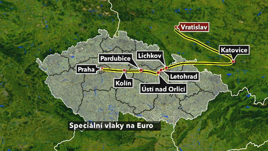 Cesta na Euro vlakem