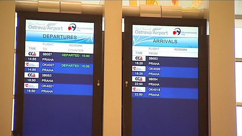 Odlety z mošnovského letiště